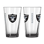 Oakland Raiders 16-Ounce Elite Pint Beverage Glass (1 Glass)