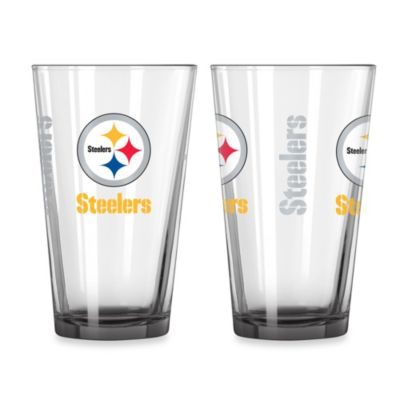 Pittsburgh Steelers 16-Ounce Elite Pint Beverage Glass (1 Glass)