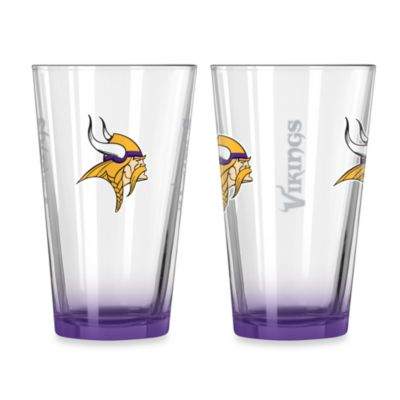 Minnesota Vikings 16-Ounce Elite Pint Beverage Glass (1 Glass)