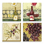 Vin Blanc Beverage Napkin Collection (4-Pack)
