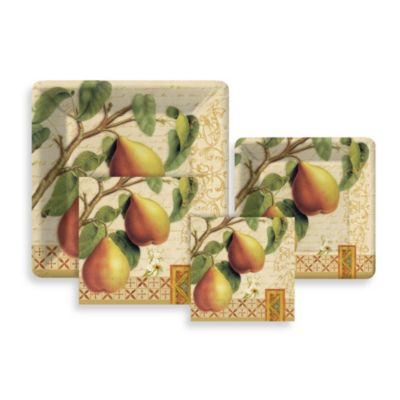 Pear Royal Paper Tableware Entertaining Kit