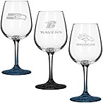 NFL 12-Ounce Etched Wine Glass