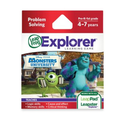 LeapFrog® Explorer Disney Pixar Monsters University Learning Game - from Leap Frog