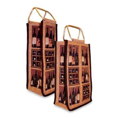 "Park B. Smith ""Crates of Wine"" Single Wine Bag"
