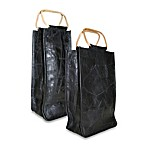Park B. Smith Leather Collage Wine Bag