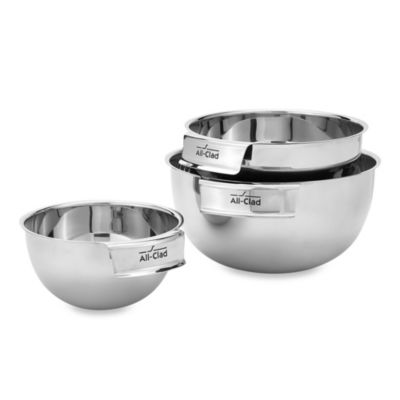 All-Clad Stainless Steel Mixing Bowls (Set of 3)