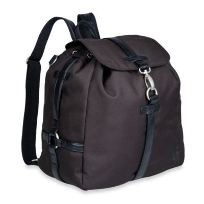 Lassig Green Label Backpack Diaper Bag in Black