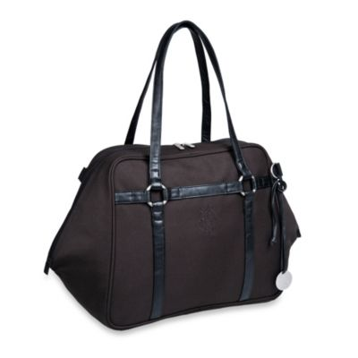 Green Label Urban Diaper Bag in Black