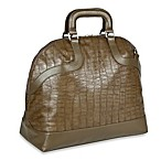 Lassig Tender Bowler Diaper Bag in Olive Crocodile