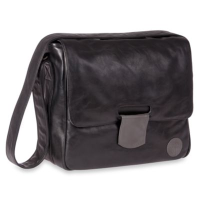 Lassig Tender Messenger Diaper Bag in Black