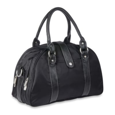Lassig Glam Shoulder Diaper Bag in Black