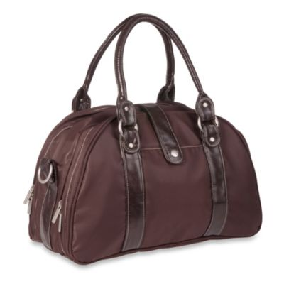 Lassig Glam Shoulder Diaper Bag in Choco