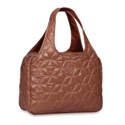 Lassig Glam Global Diaper Bag in Cognac