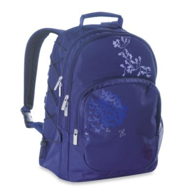 Lassig Casual Backpack Diaper Bag in Butterfly Purple