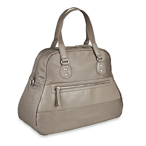 buy lassig vintage bowler diaper bag in mud from bed bath beyond. Black Bedroom Furniture Sets. Home Design Ideas