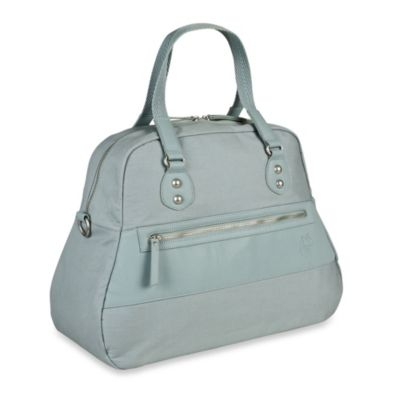 Lassig Vintage Bowler Diaper Bag in Misty Blue