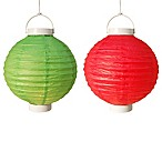 8-Inch Battery Operated Paper Lanterns (Set of 6)