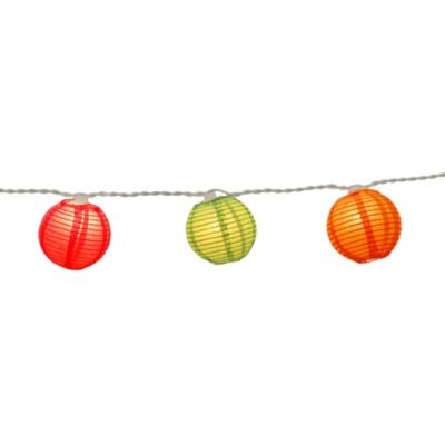 10-Count Paper Lantern String Lights in Red