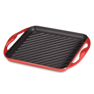 Le Creuset® 9.5-Inch Skinny Square Grill in Red