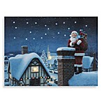 Illuminart Santa on Rooftop Wall Art