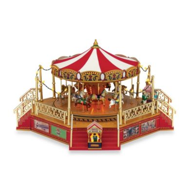 Boardwalk Carousel Holiday Music Box