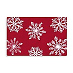 Winter Snowflakes 2-Foot x 3-Foot Hooked Rug