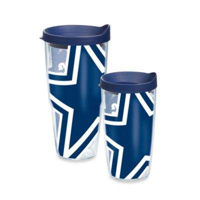 Dallas Cowboys Wrap Tumblers with Blue Lid