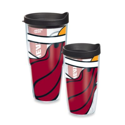 Tervis® Miami Heat 16-Ounce Wrap Tumbler with Black Lid
