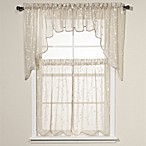 Savannah Taupe Kitchen Window Curtains and Valances