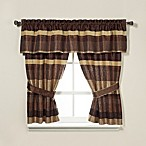 Croscill® Portland Window Treatments in Bronze/Cream