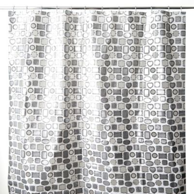 Framed 70-Inch x 72-Inch Shower Curtain in White