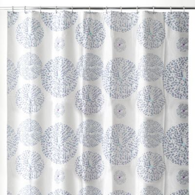 Mozaik 70-Inch x 72-Inch Shower Curtain in Blue
