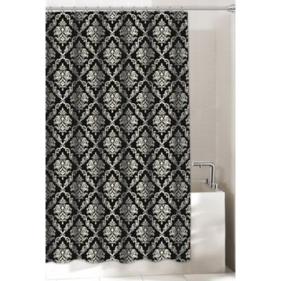 Arabesque Black 72-Inch x 72-Inch Shower Curtain