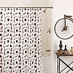 Barber Shop 70-Inch x 72-Inch PEVA Shower Curtain