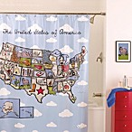 Name That State 70-Inch x 72-Inch Shower Curtain