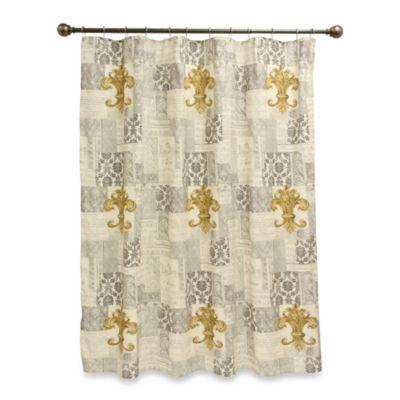 Fleur de lis 70 inch x 72 inch shower curtain