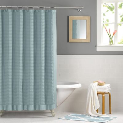 Real Simple® Retreat 54-Inch x 78-Inch Shower Curtain in Azure