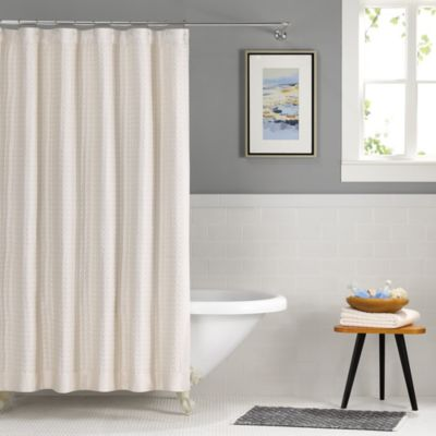 Real Simple® Retreat 72-Inch x 72-Inch Shower Curtain in Ivory