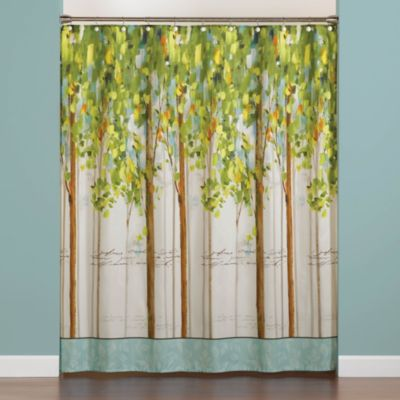 Forest Study 70-Inch x 72-Inch Shower Curtain
