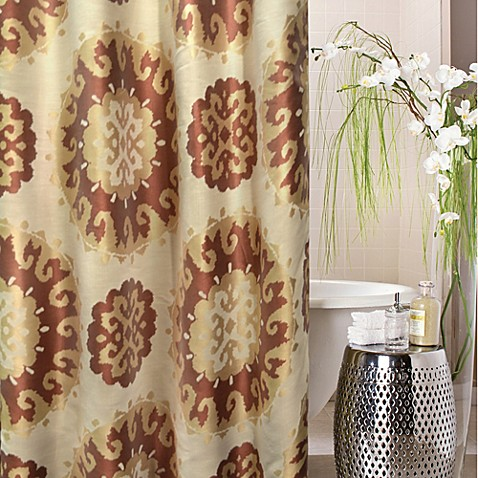 Sun Medallion 72 Inch X 72 Inch Shower Curtain In Red Gold