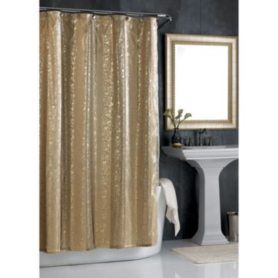 Sheer Bliss 54-Inch W x 78-Inch L Stall Shower Curtain in Gold