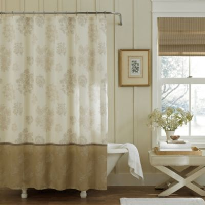 Eleanora 72-Inch x 72-Inch Shower Curtain in Gold/Cream