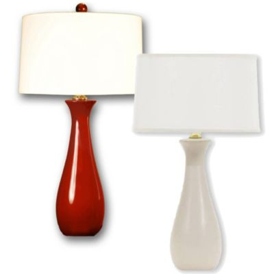 Ceramic Table Lamp in Red