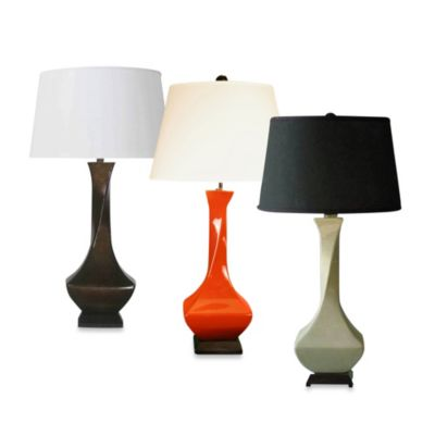 Ceramic Table Lamp in Eggshell Finish