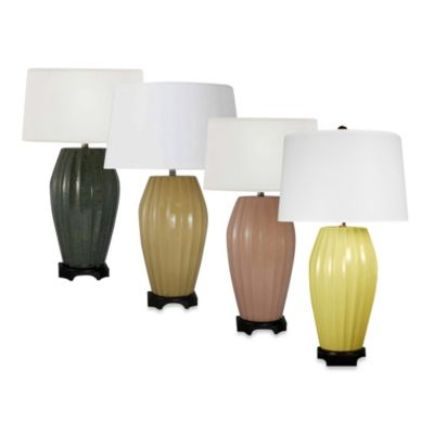 Ceramic Table Lamp in Maize Crackle Finish