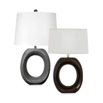 Ceramic Table Lamp in Hershey Brown