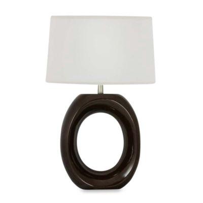 Ceramic Table Lamp in Hershey Brown
