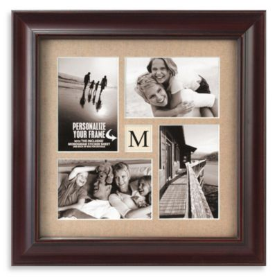 Malden® Barnside 4-Opening Monogram Picture Frame in Espresso