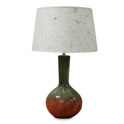 Ceramic Table Lamp in Pumpkin Crackle Finish