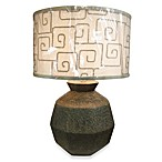 Cubed Sphere Ceramic Table Lamp in Bedrock
